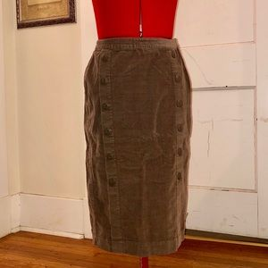 Anthropology Tulle Brand Corduroy Pencil Skirt